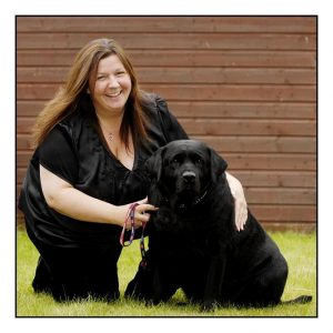 Lesley Winton and her dog Holly
